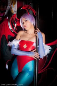 lilith cosplay darkstalkers sexy yukilefay