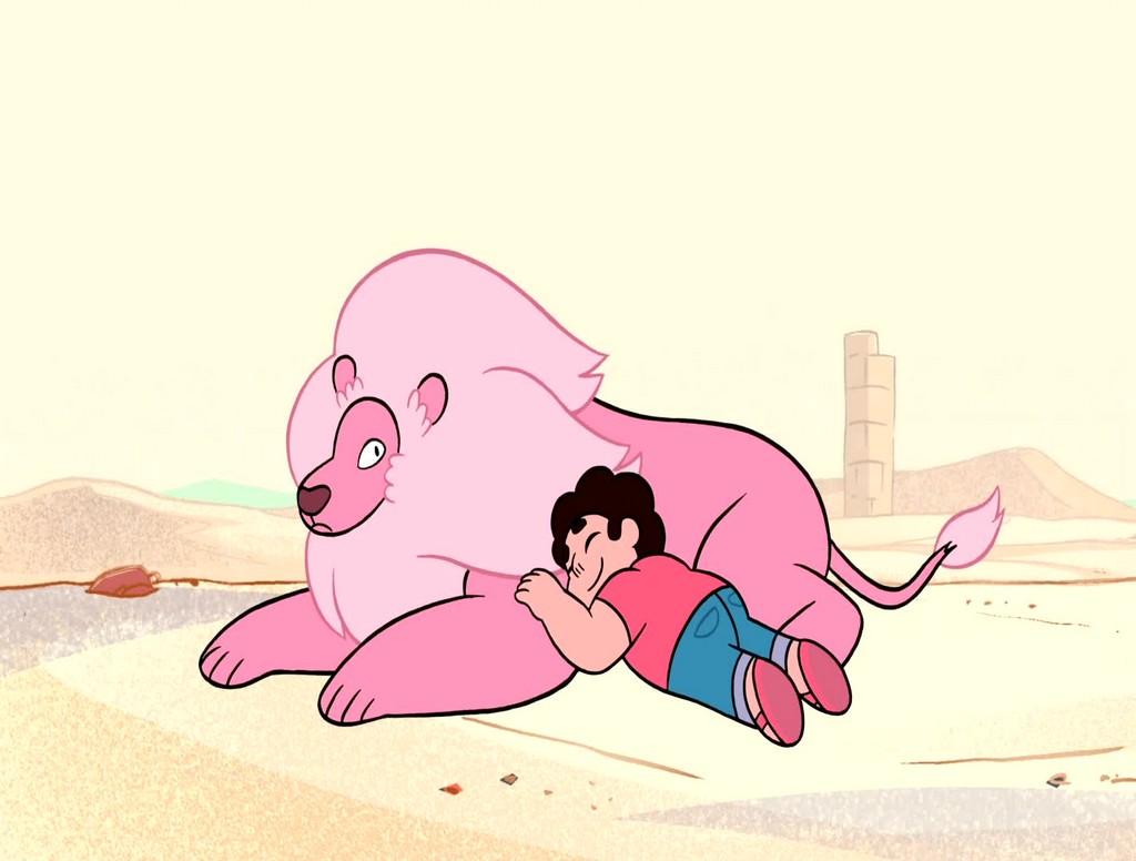 steven universo leão rosa