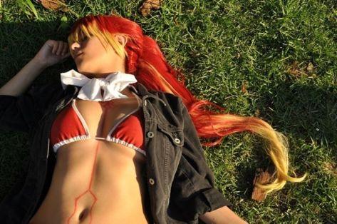 Cosplay Shura Ao no Exorcist Laura Pyon Sexy gostosa