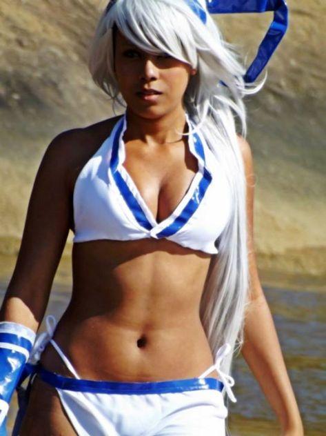 Mina Majikina cosplay rinecos sexy samurai shodown ecchi