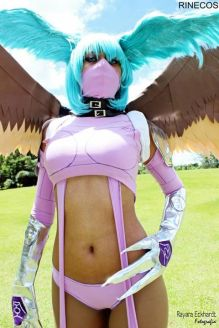 Zephyrmon cosplay Rinecos sexy ecchi linda