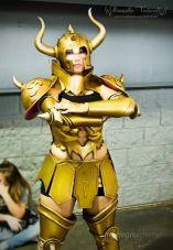 Cosplay Aldebaran Taurus armadura de ouro touro Danielle Vedovelli saint seiya