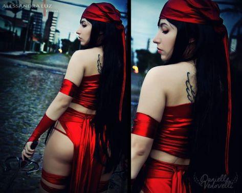 Elektra cosplay sexy Danielle Vedovelli