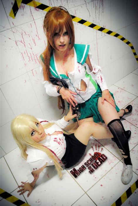 Karen Cosplay Rei Miyamoto HOTD ecchi sexy big tits Juka Crasoves cosplay Shizuka gostosa