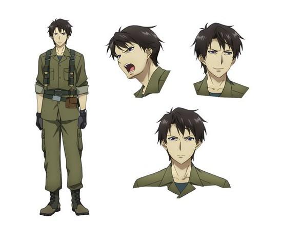 "Arte Oficial de Kuzuya ""Junker"" (Lixeiro) no Anime"