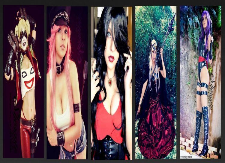 shermie cosplay wall sexy gostosa