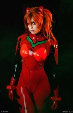 Cosplay Asuka Ju Tsukino sexy gostosa plugsuit