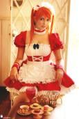 Cosplay Asuka Ju Tsukino sexy maid gostosa