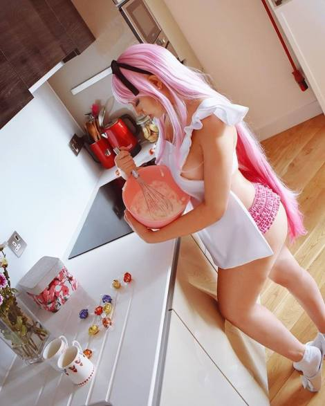 ju tsukino cosplay sexy lingirie IDK (1)