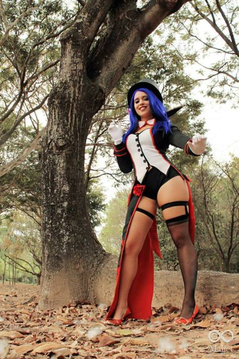 Angie Starling cosplay le blanc league of legends cosplay gostosa pernas sexy