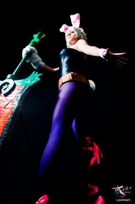 cosplay Bunny Riven sexy LOL Dy Chan coelhinha gostosa
