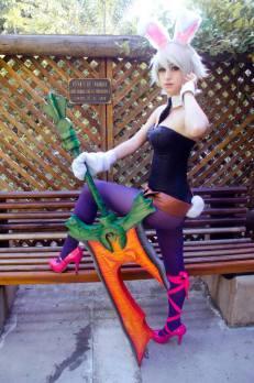 cosplay Bunny Riven sexy LOL Dy Chan coelhinha gostosa