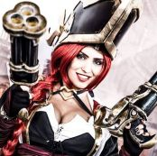 cosplay Miss Fortune Capitã angie starling gostosa big tits