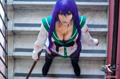 Cosplay Saeko Busujima HOTD sexu gostosa big tits Dy chan