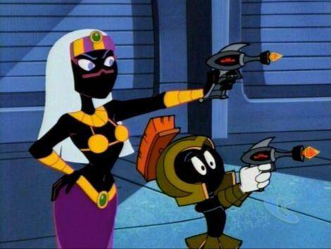 duck dodgers rainha de marte e marciano