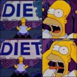 homer entre a dieta e a morte x