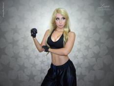 Luna Gabriella canarion negro cosplay black canary sexy