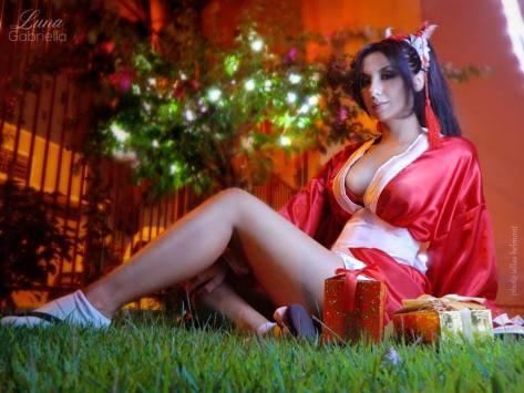Mai Shiranui cosplay sexy Luna Gabriella gostosa