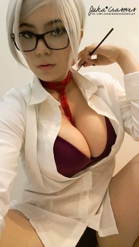 Meiko cosplay gostosa peitão Juka Crasoves big tits prison school