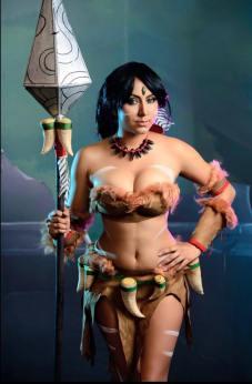 Nayigo cosplay nidalee lol sexy gostosa ecchi
