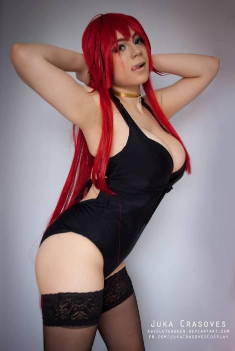 Rias Gremory cosplay gostosa Juka Crasoves big tits