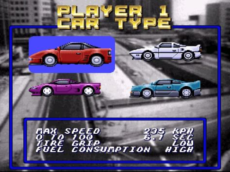 O carro azul!