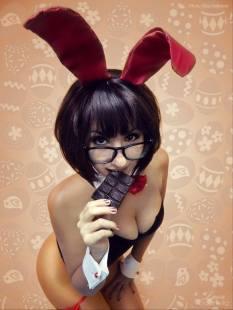 Velma cosplay bunny coelhinha gostosa Luna Gabriella