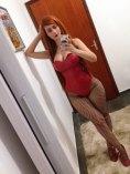 Cosplay Adami Langley coelhinha sexy gata por ela mesma