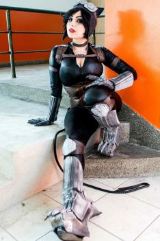 cosplay Catwoman Injustice mulher gato Cosplay Jaqueline Abrão big tits sexy