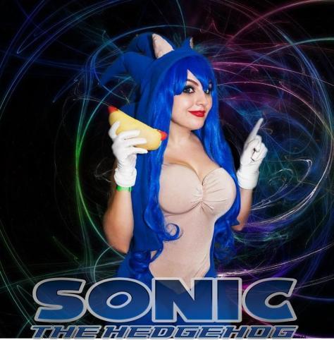 Jaqueline Abrão cosplay sonic female sexy gata