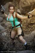 Lara Lunardi cosplay sexy lara croft gostosa