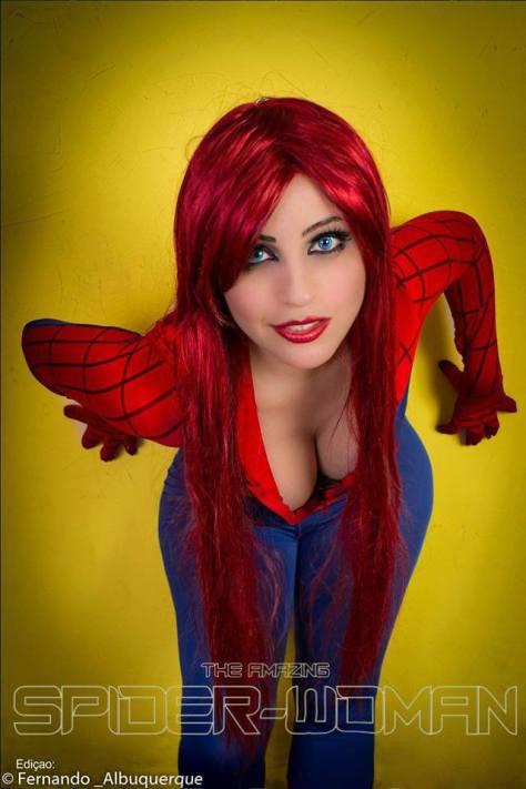 Mary Jane spider man homem aranha cosplay sexy Jaqueline Abrão