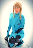 Metroi cosplay samus aran zero suit cosplay sexy Lara Lunardi gata ecchi samus (primeiros)