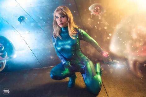 Metroi cosplay samus aran zero suit other m sexy Lara Lunardi gata ecchi samus