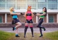 powerpuffgirls cosplay meninas super poderosas Vivian Vee Buttercup Rinoa Cosplay Bubbles Starship Blossom