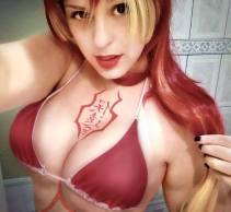shura cosplay big tits ao no exorcist sexy gostosa Thábata Cardoso