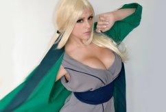 tsunade cosplay sexy big tits peitos Thábata Cardoso gostosa