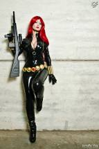 viuva negra cosplay Black Widow Adami Langley sexy gostosa
