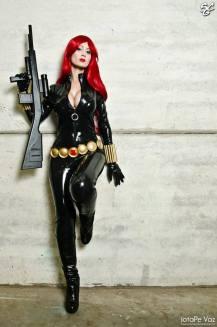 viuva negra cosplay Black Widow Adami Langley sexy gostosa