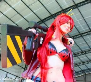 Yoko gurren lagan sexy gostosa Cosplay Adami Langley big boobs