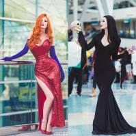 Ashlynne Dae Jessica Rabbit cosplay linda Morticia Adams Cosplay
