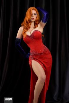 Major Sam Cosplay Jessica Rabbit linda sexy