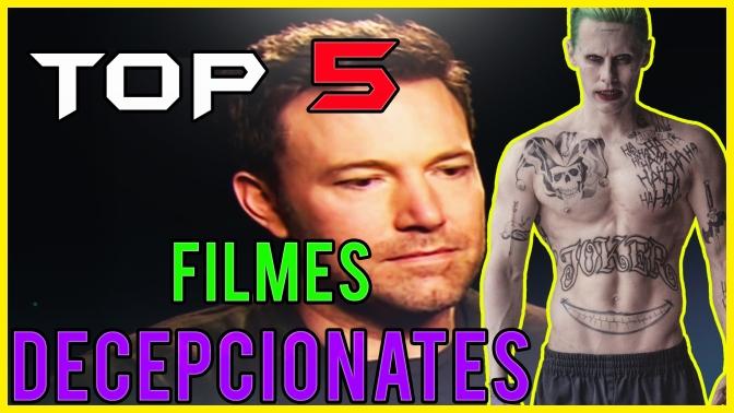 Top 5 Filmes Decepcionantes