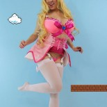 cosplay princess peach cosplay princesa Kayla Kiss sexy gostosa (4)