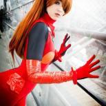 nana kuronoma sexy cosplay asuka plugsuit (4)