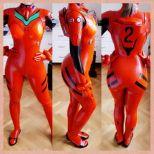 nana kuronoma sexy cosplay asuka plugsuit (5)