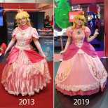 princesa peach cosplay layze michelle
