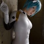 Rei cosplay sexy big tits semi nude Amemiya Luna (1)