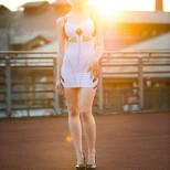 rei cosplay sexy plugdress Shiroiaisu (4)