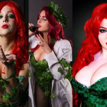 Poison ivy Era Venenosa cosplay wall